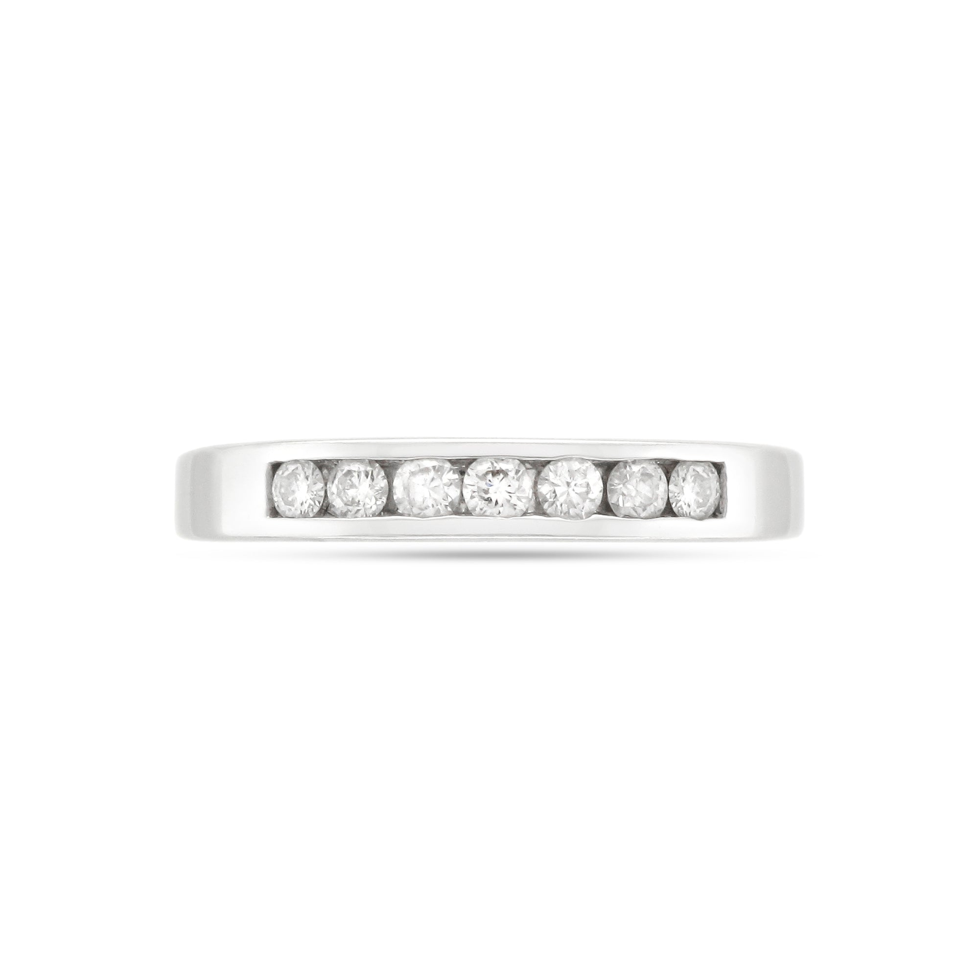 18ct White Gold Half Eternity Diamond Ring