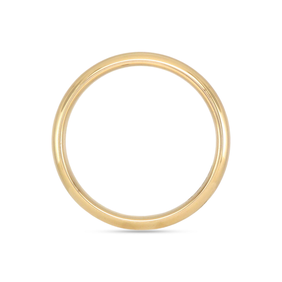 18ct Yellow Gold Gents Comfort Fit Wedding Band