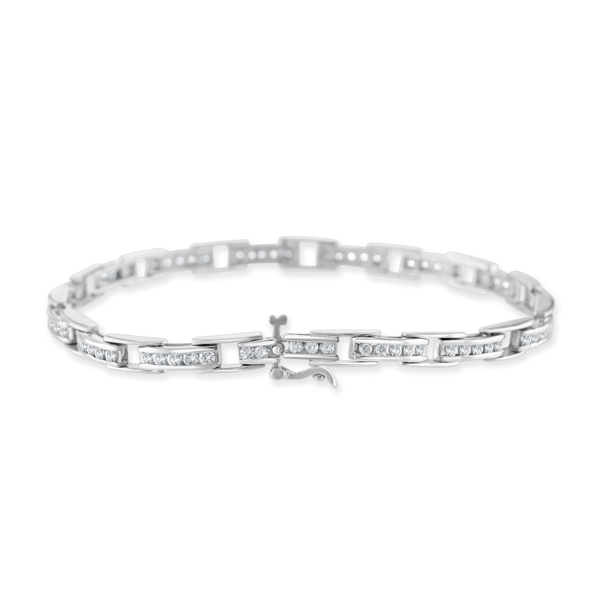 18ct White Gold Diamond Bracelet