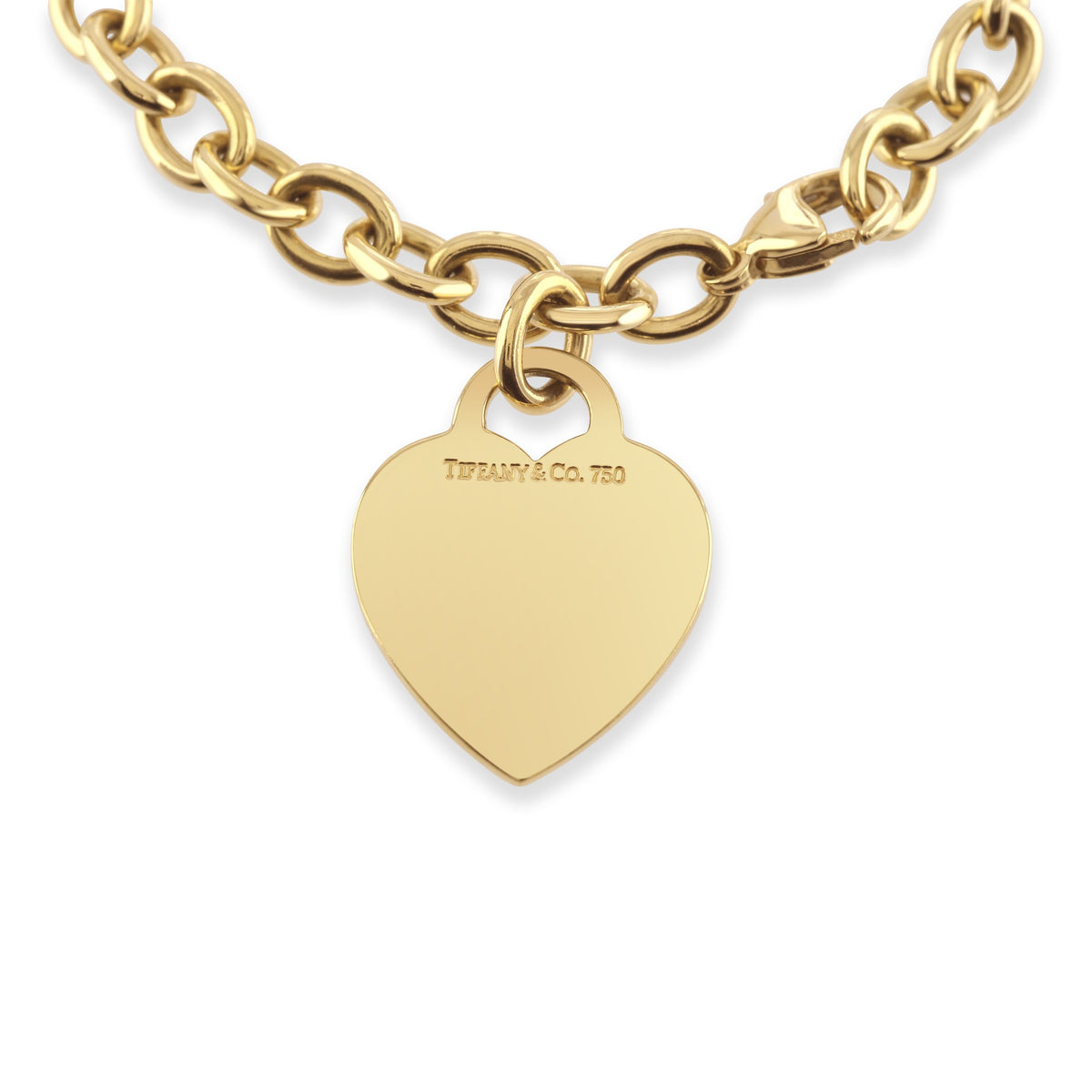 Tiffany & Co. 18ct Yellow Gold Heart Bracelet