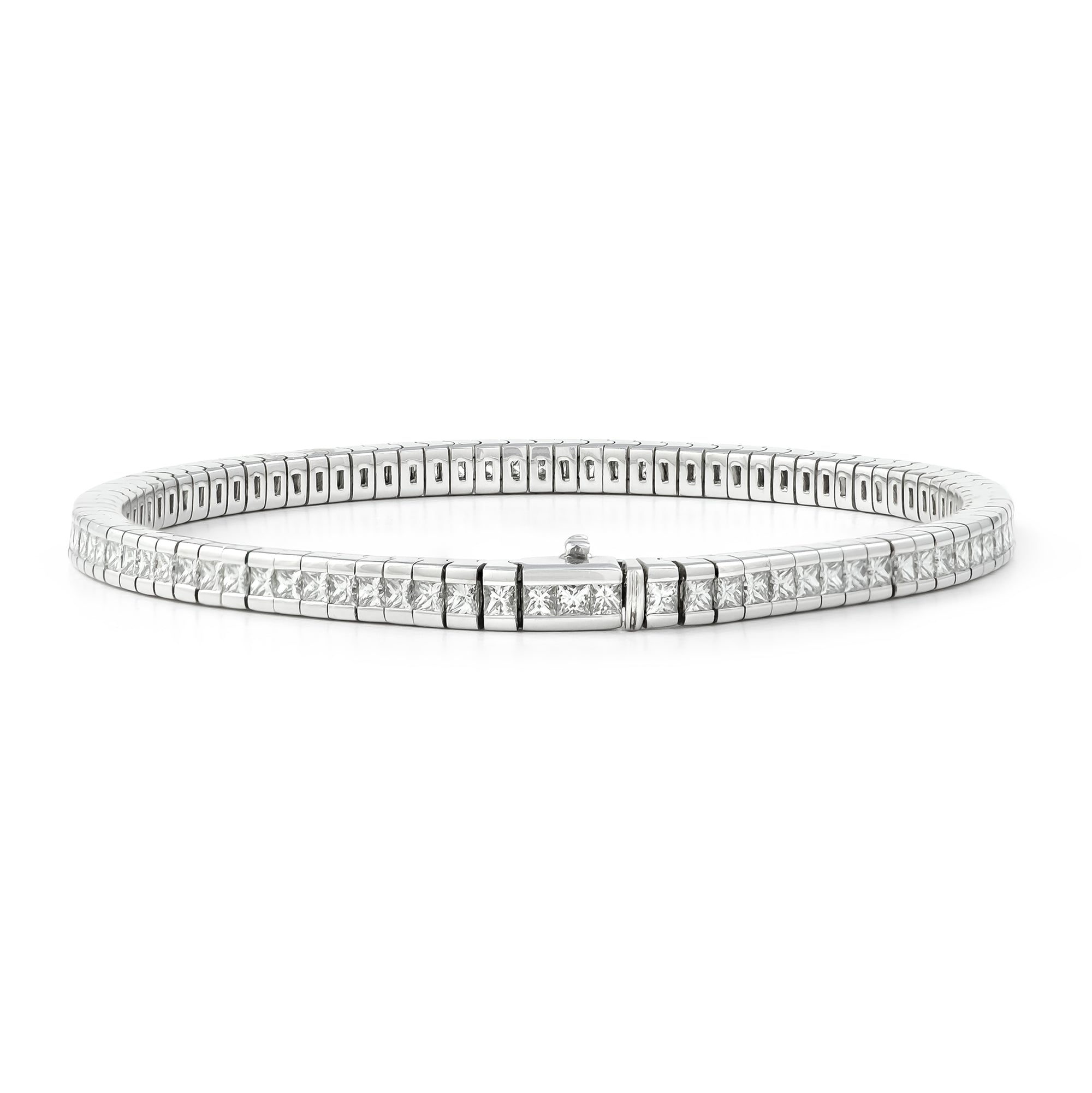 4.50ct 18ct White Gold Diamond Tennis Bracelet