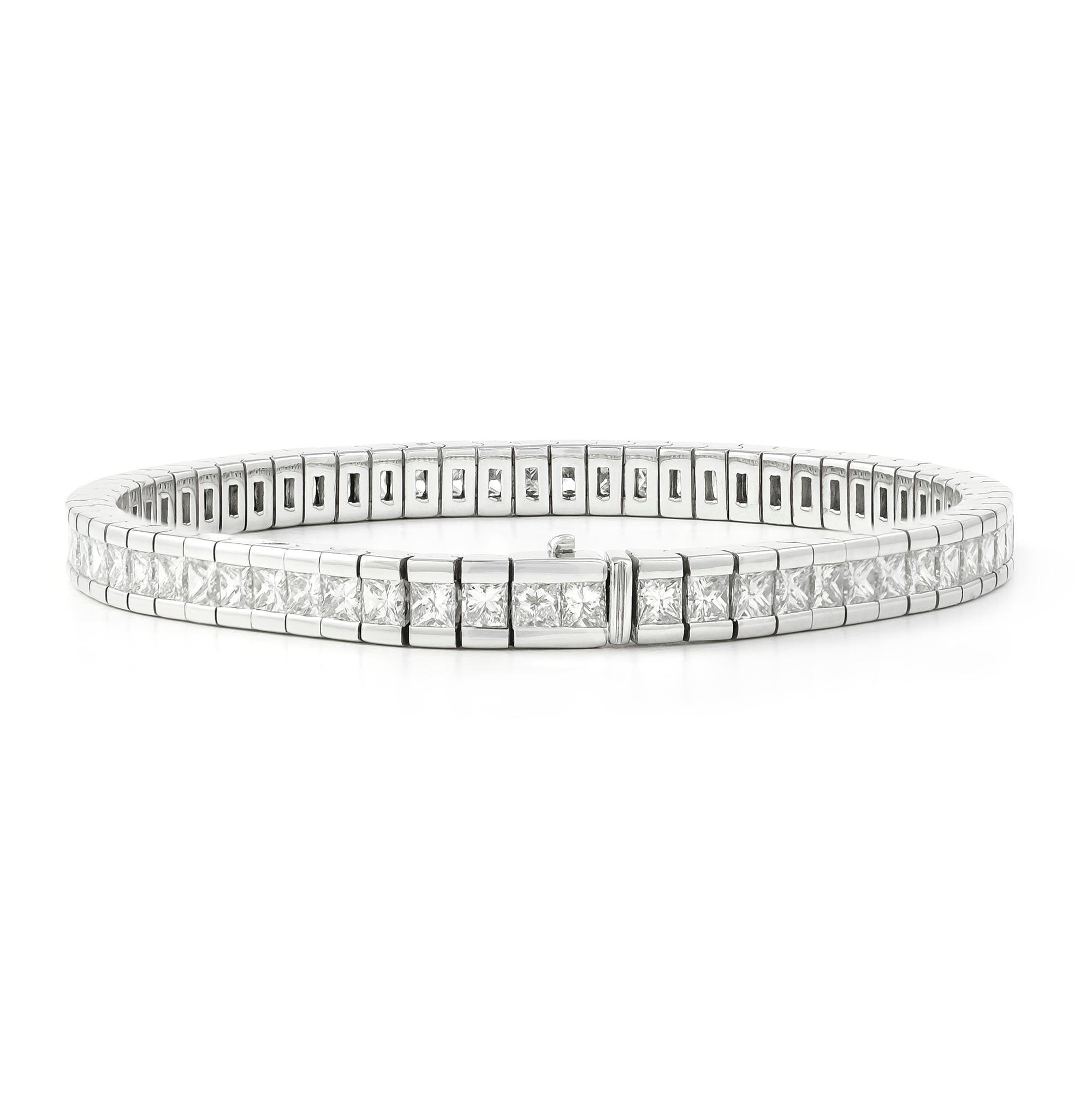 8.50ct 18ct White Gold Diamond Tennis Bracelet