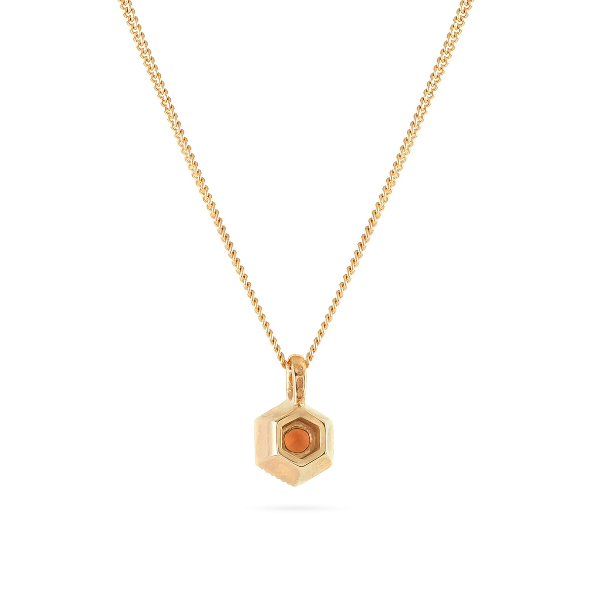 9ct Rose Gold Garnet Pendant