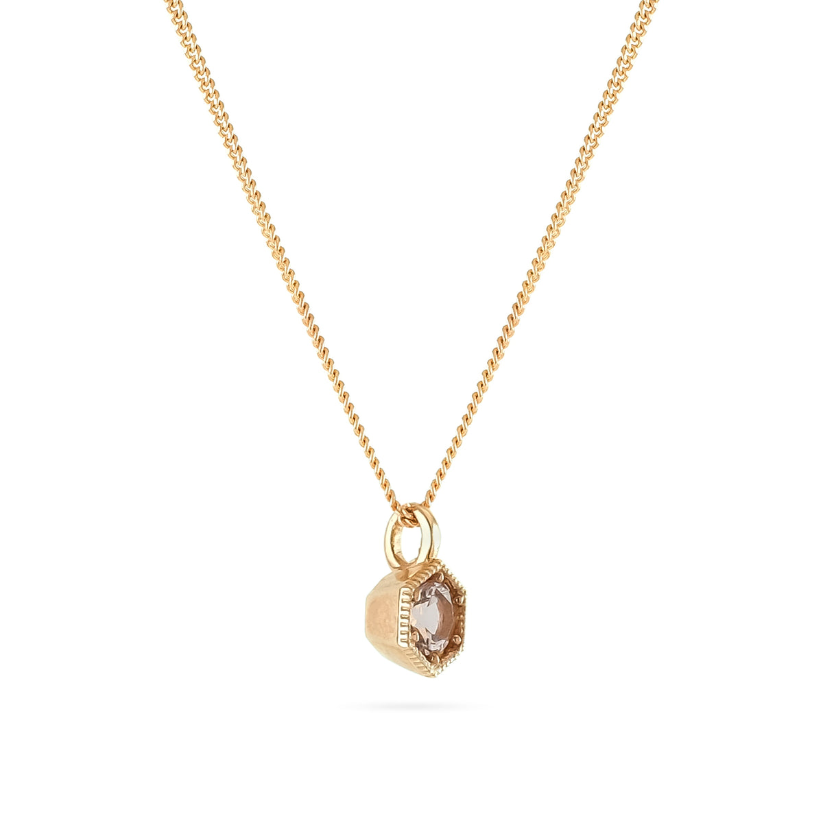 9ct Rose Gold Morganite Pendant