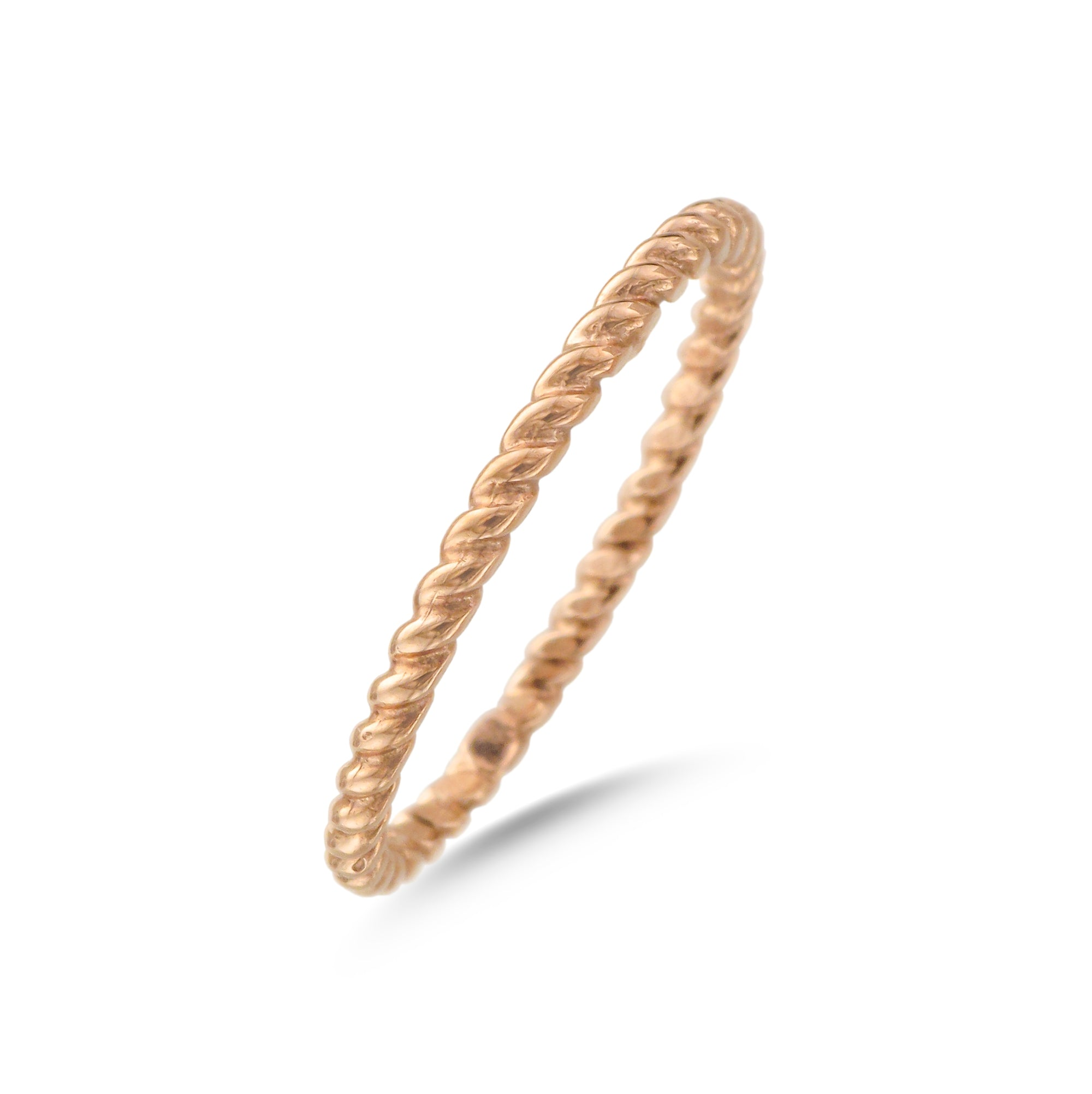 9ct Rose Gold Twist Band Ring