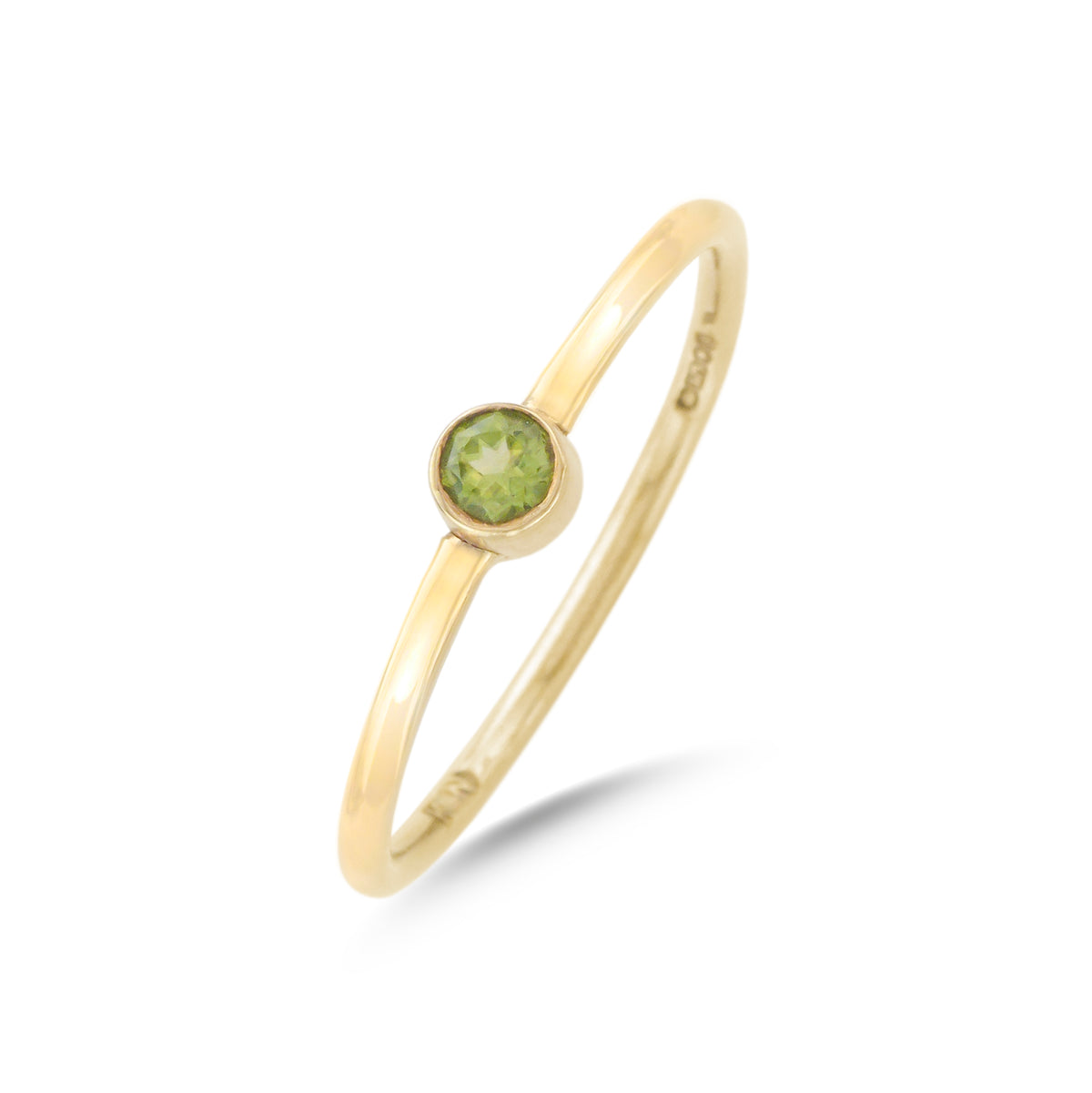 9ct Yellow Gold Peridot Wire Ring