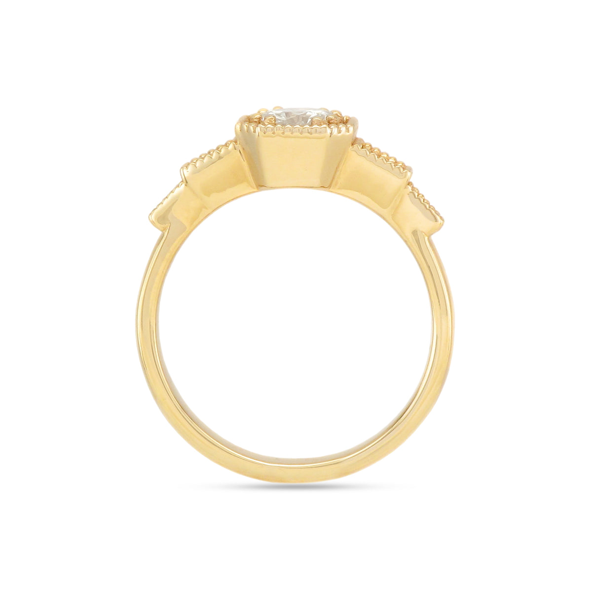9ct Yellow Gold Three Stone Diamond Ring