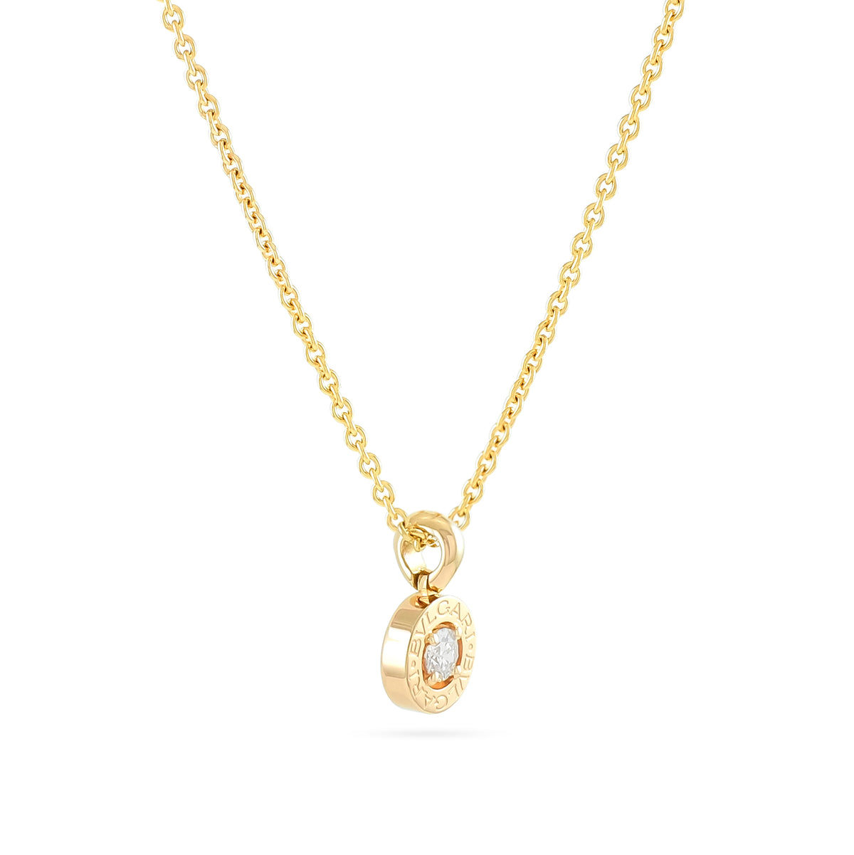 Bvlgari 18ct Rose Gold Diamond Pendant