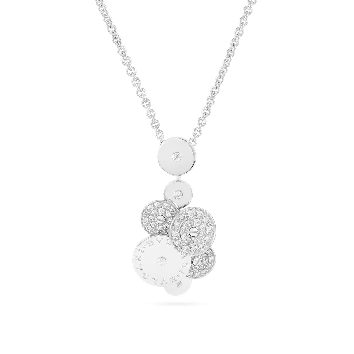 Bvlgari 18ct White Gold Diamond Cicladi Pendant