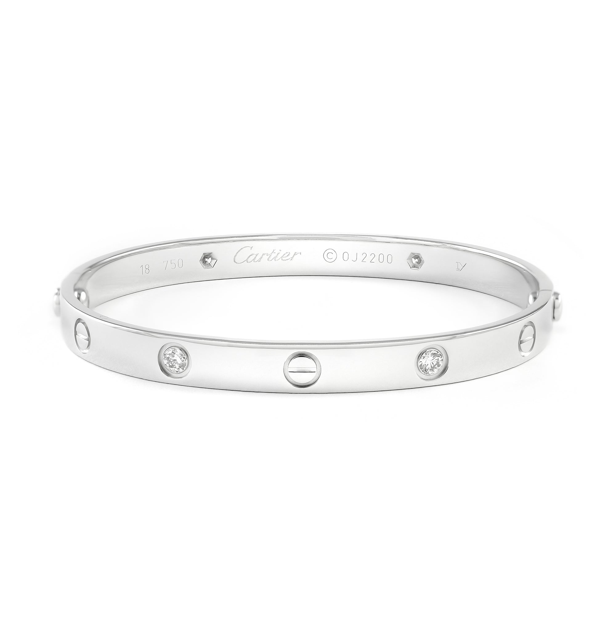 Cartier 18ct White Gold 4 Diamond Love Bangle