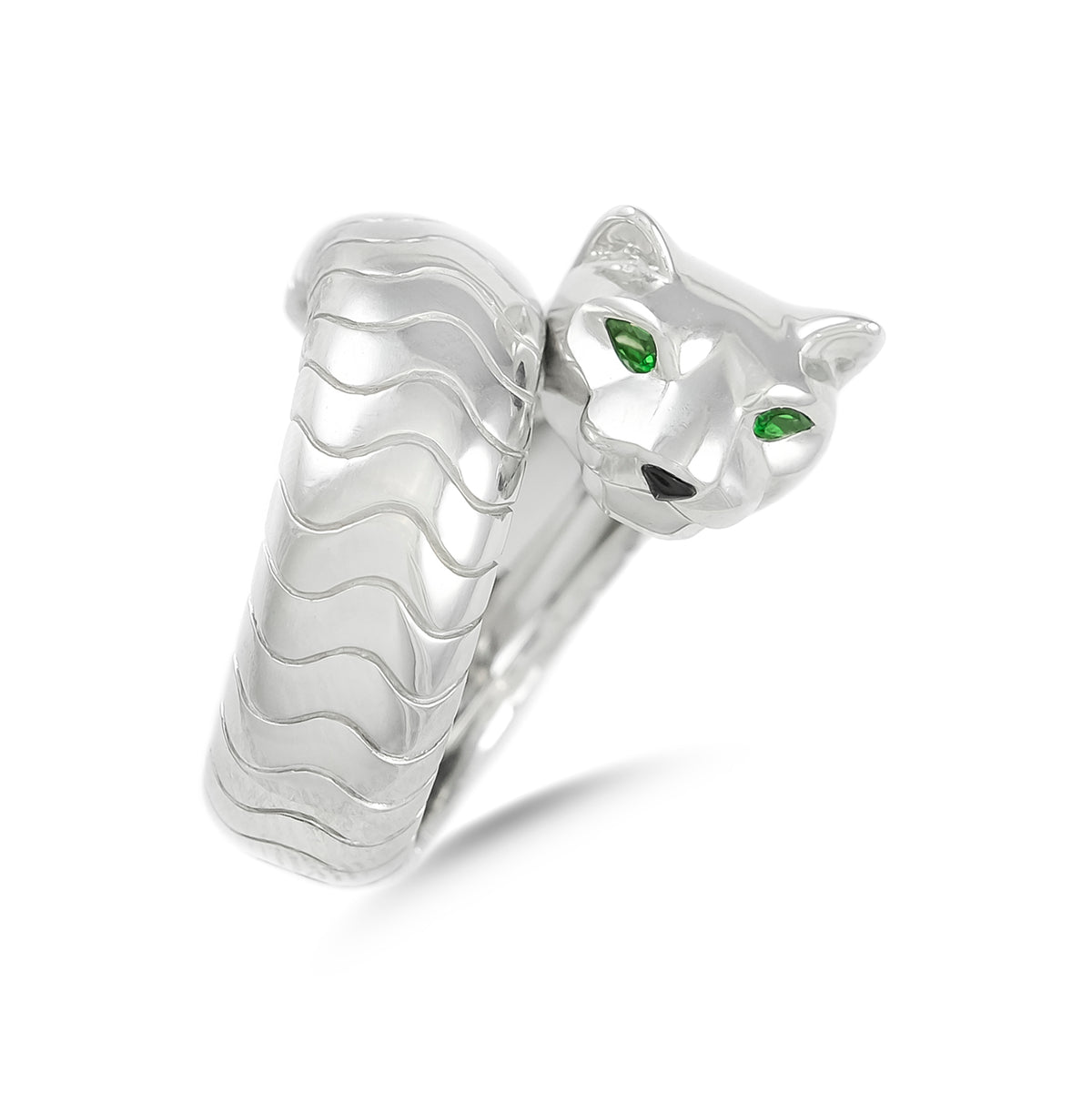 Cartier 18ct White Gold Pathere Ring