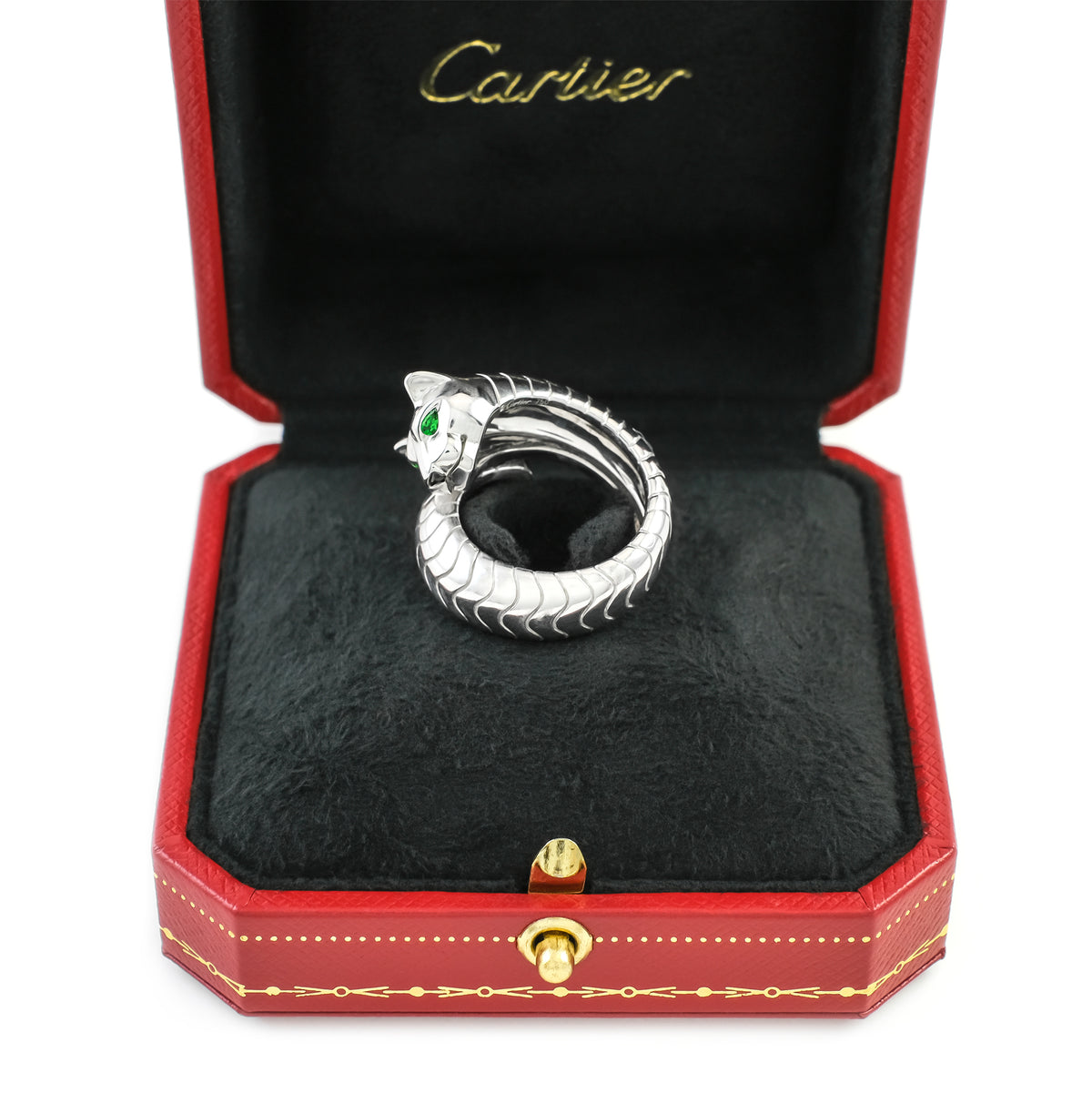 Cartier 18ct White Gold Panthere Ring