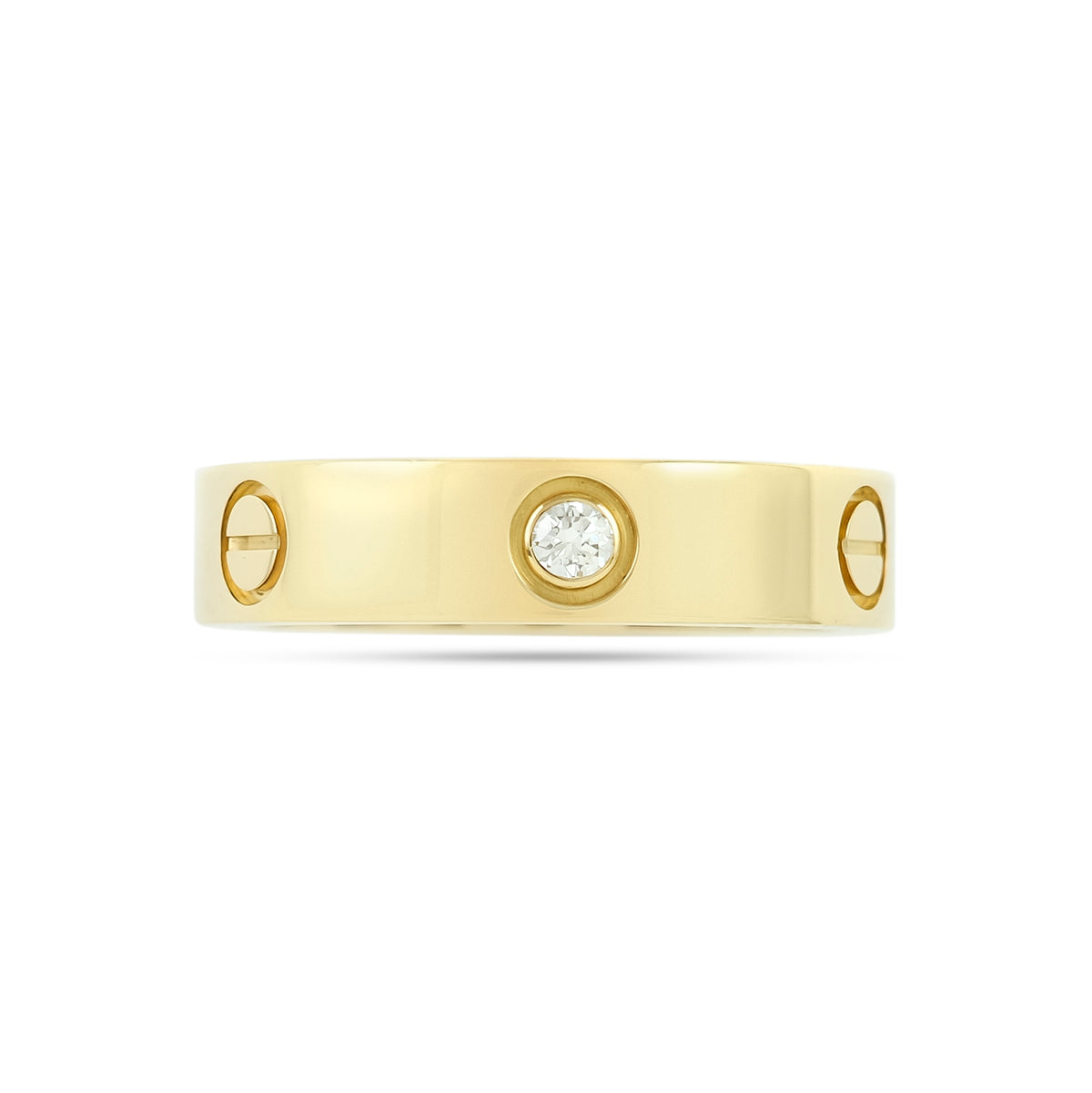 Cartier 18ct Yellow Gold 3 Diamond Love Ring