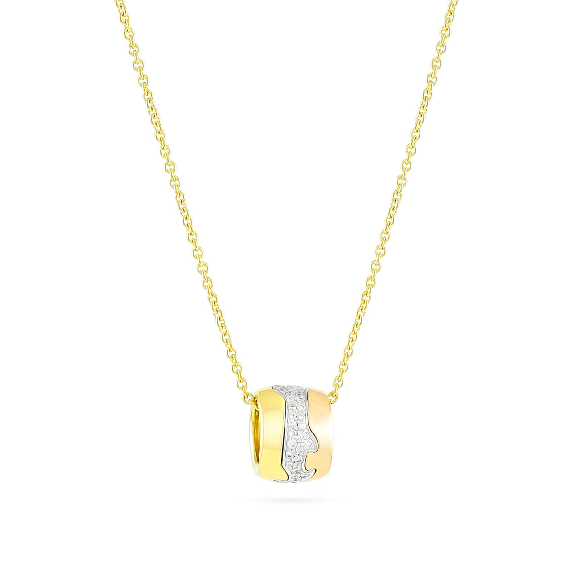 Georg Jenson Three Colour Diamond Fusion Necklace