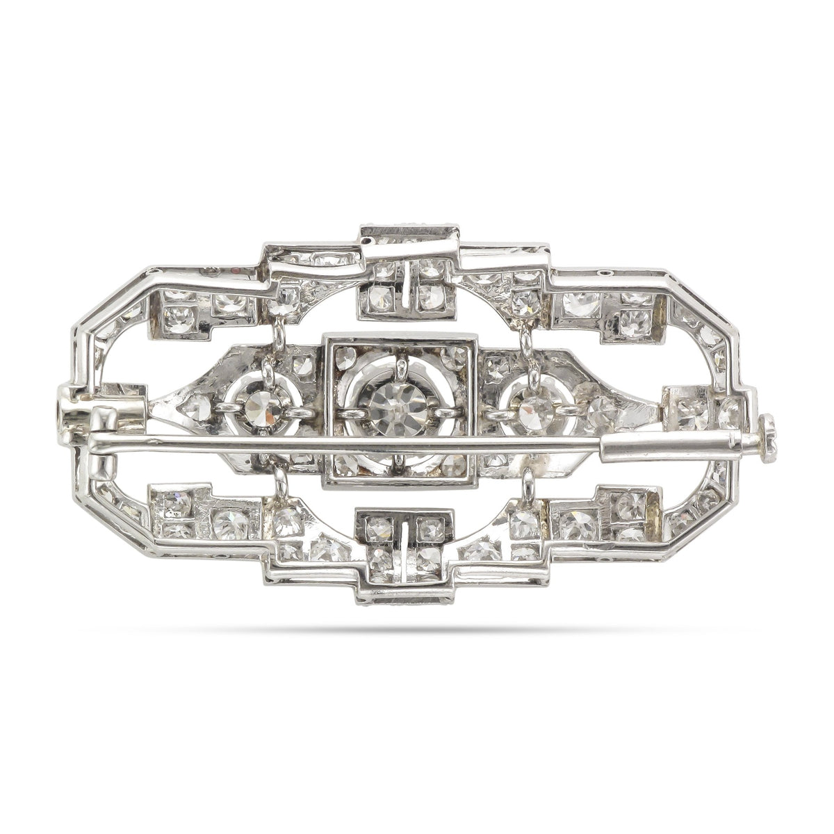 Vintage Platinum Art Deco Diamond Brooch