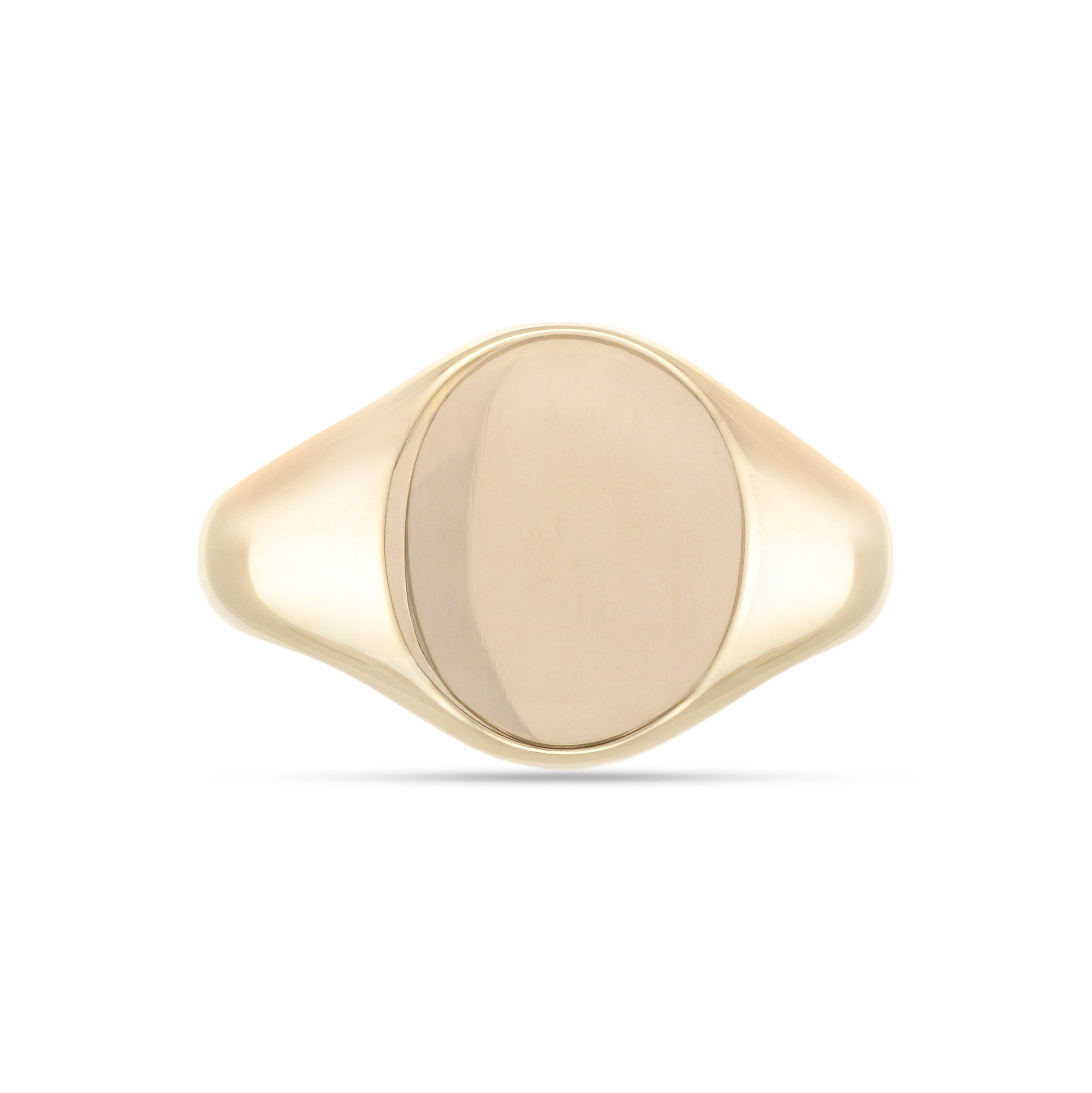 9ct Yellow Gold Oval Signet Ring 16mm x 13mm