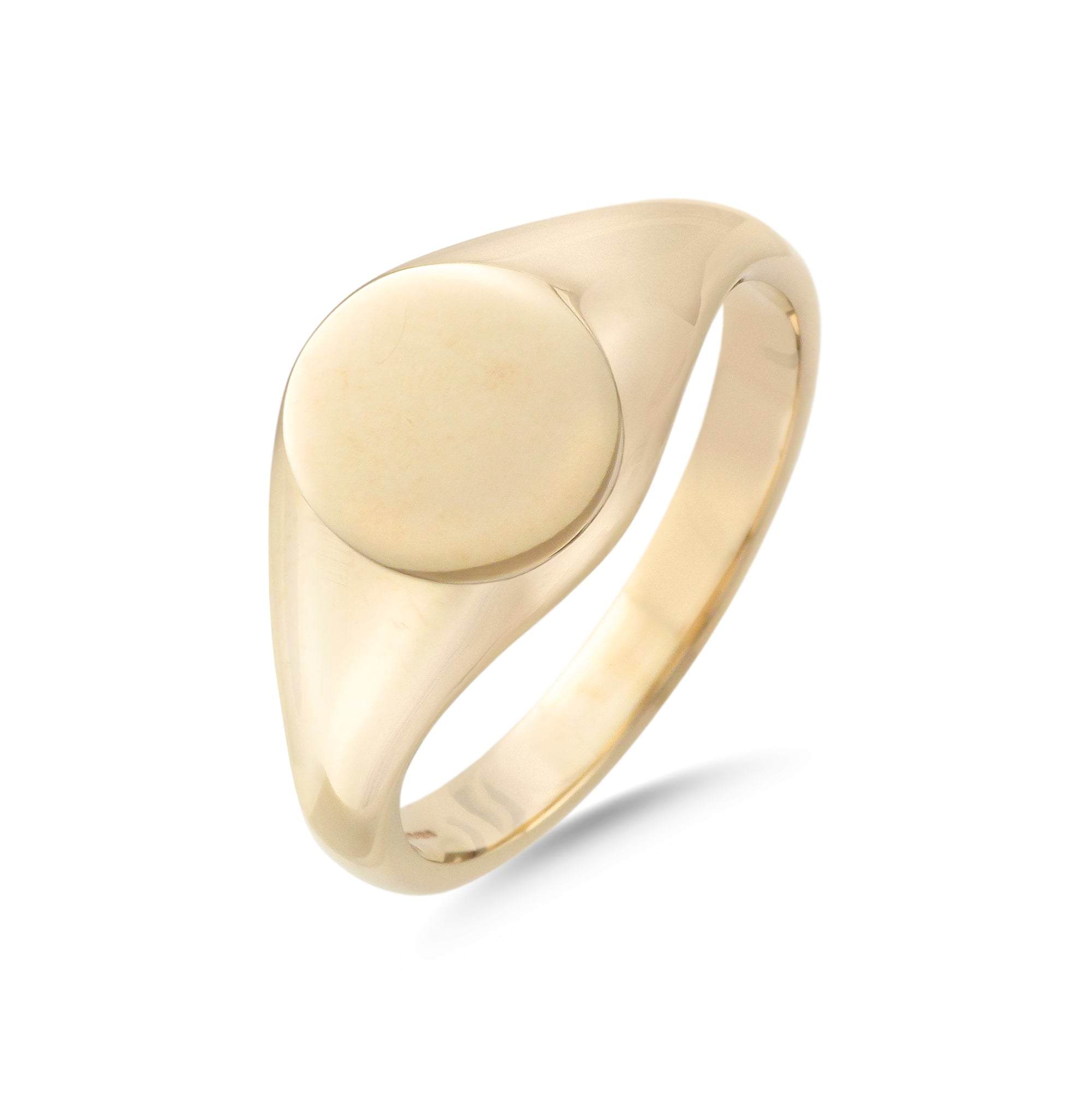 9ct Yellow Gold Oval Signet Ring 11mm x 9mm