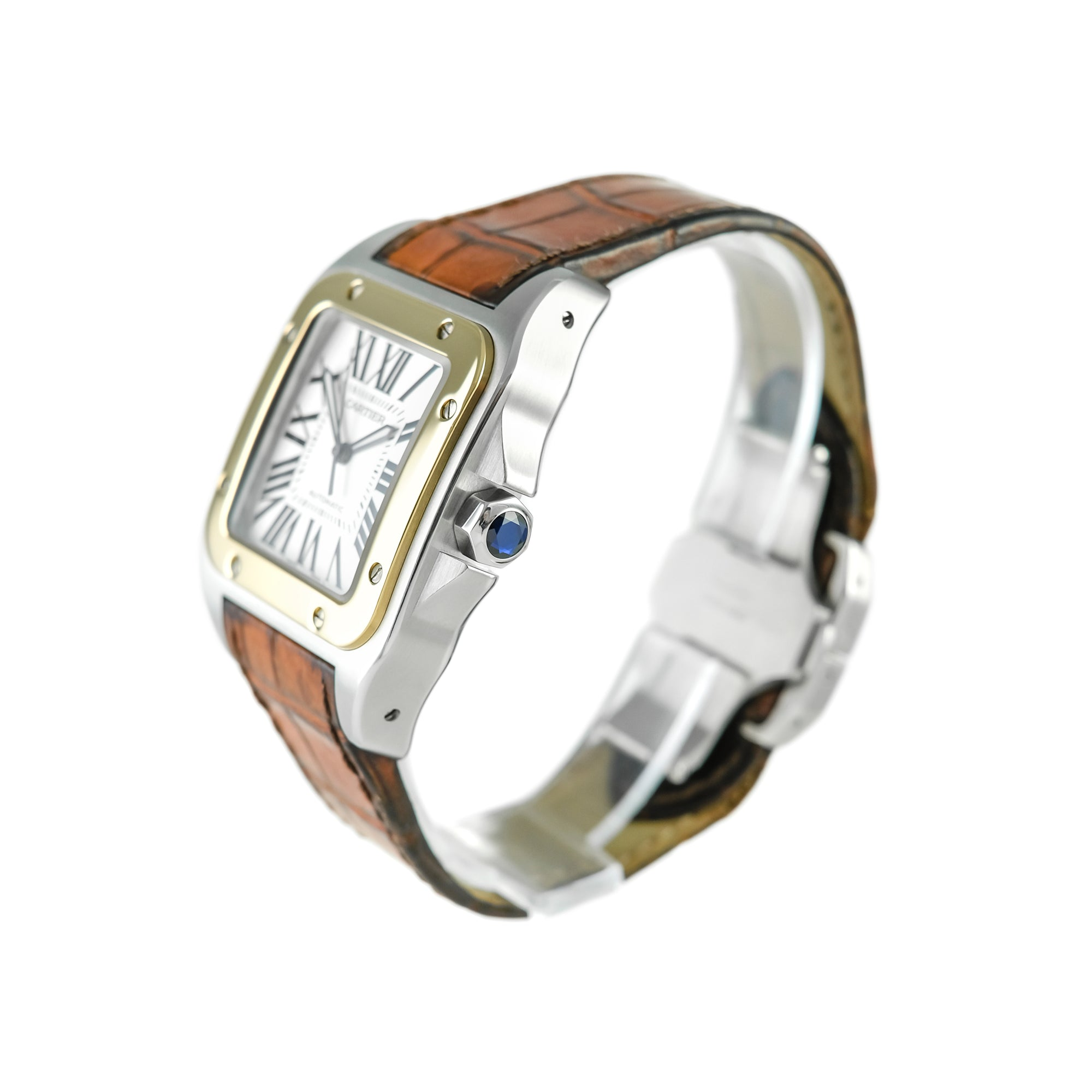 Cartier Santos 100 Steel and Gold W20072X7