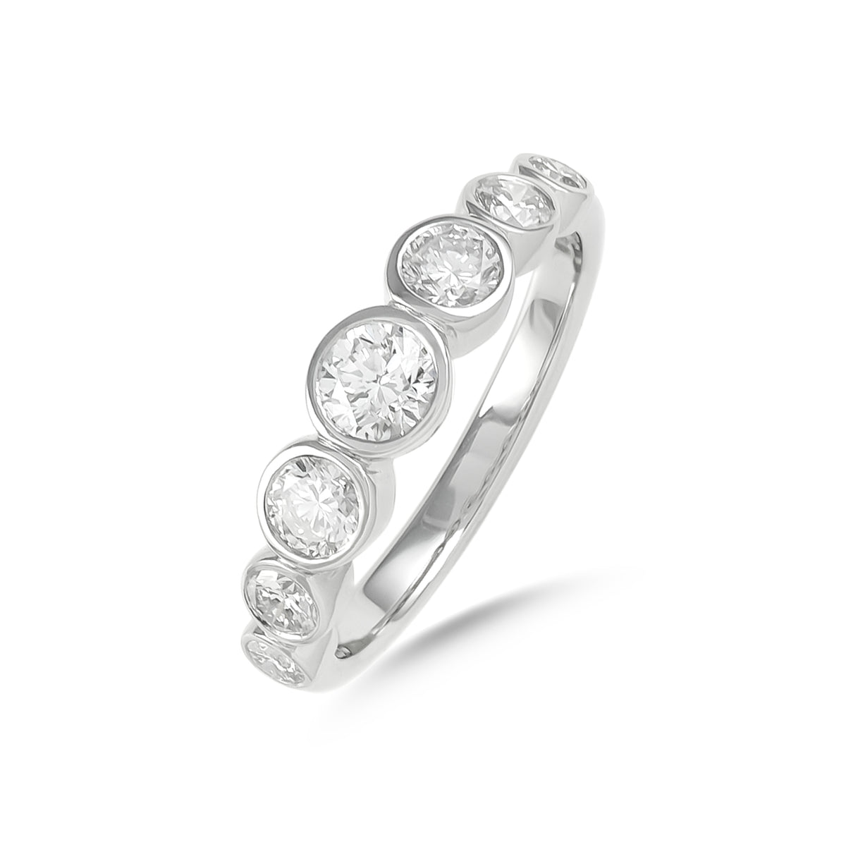 1.10ct Platinum Half Eternity Diamond Ring
