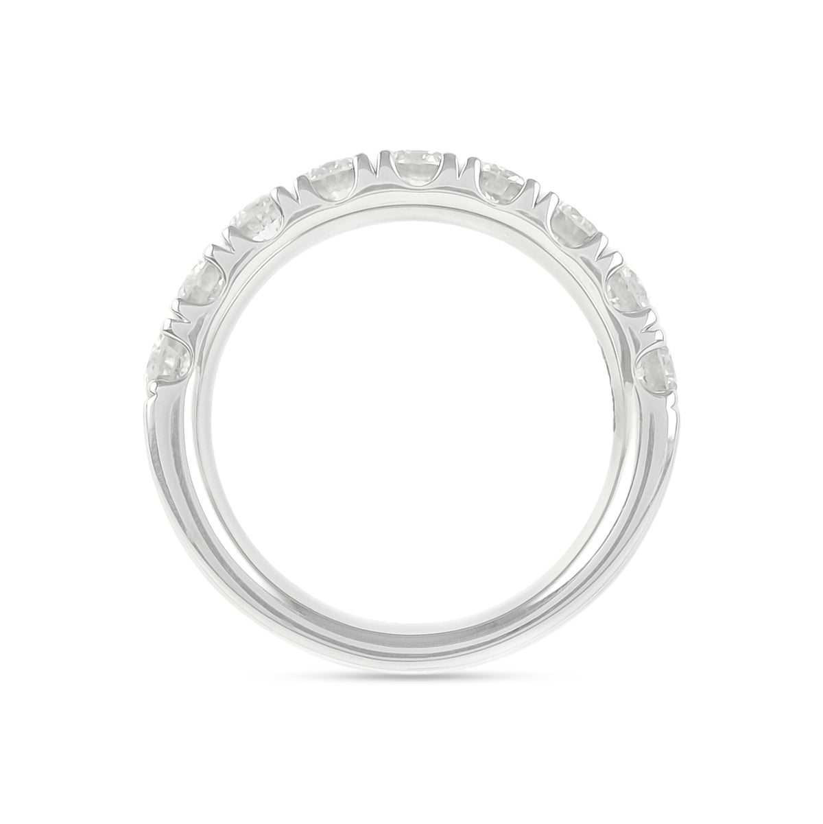 1.50ct Platinum Half Eternity Diamond Ring