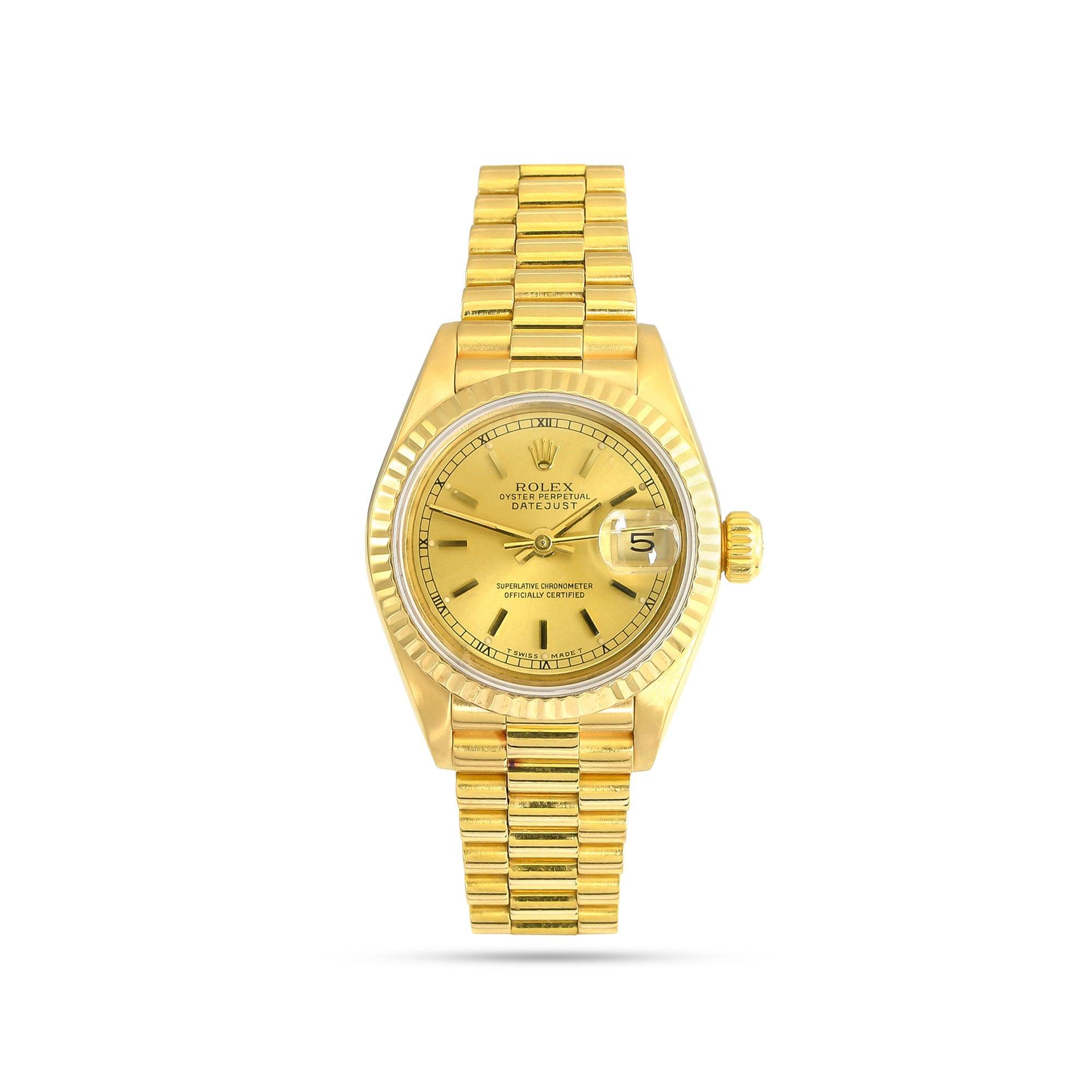 Ladies 18k Yellow Gold Rolex Datejust