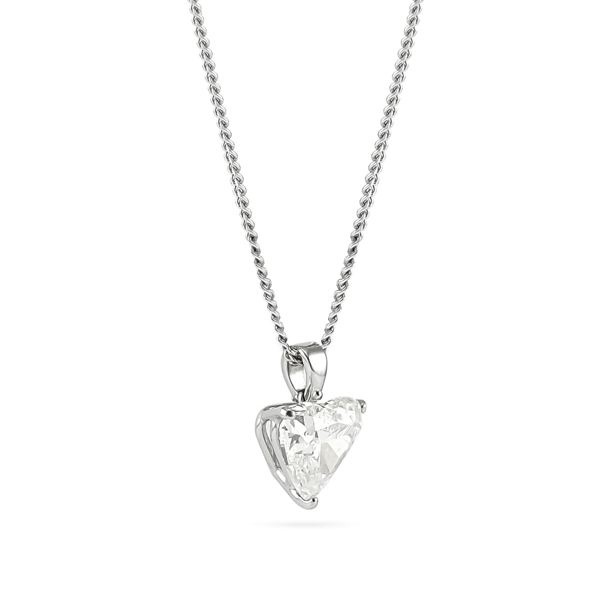 3.07ct Heart-Cut Diamond Pendant