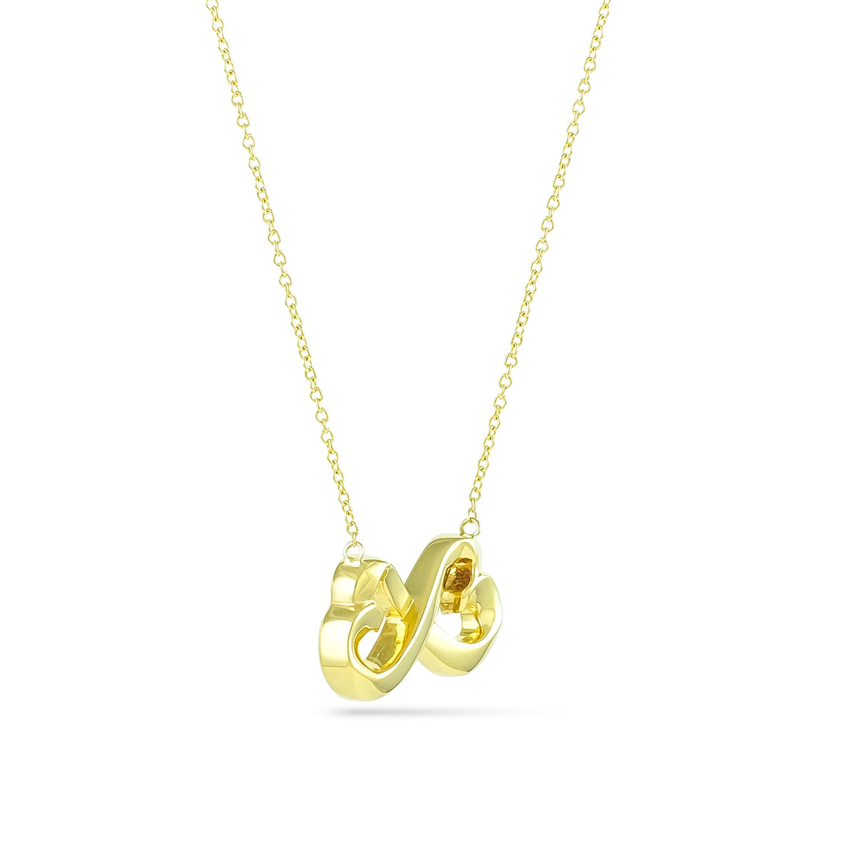 Tiffany & Co. 18ct Yellow Gold Paloma Picasso Double Loving Heart Necklace