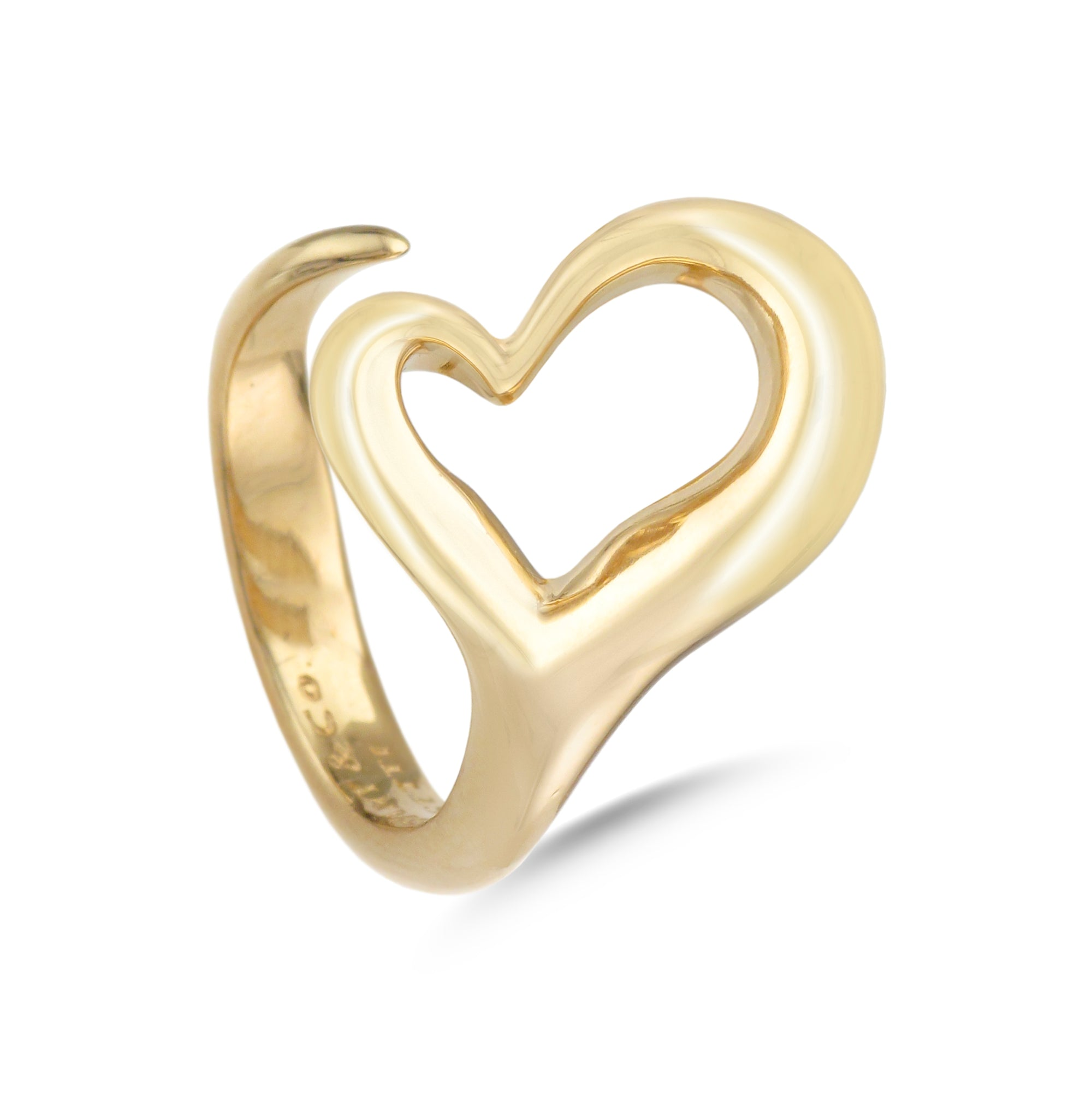 Tiffany & Co.® 18ct Yellow Gold Open Heart Ring