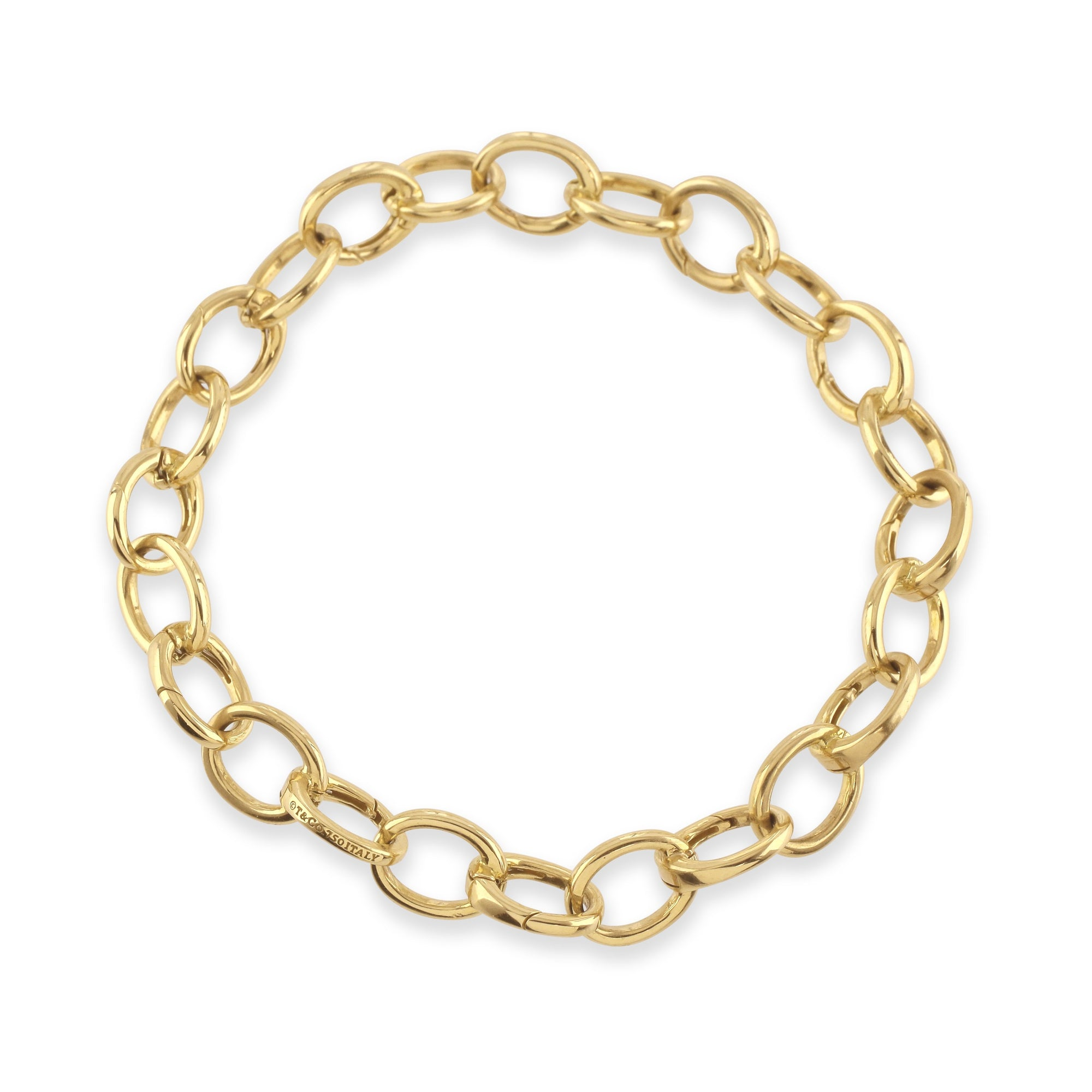 Tiffany & Co.® 18k Yellow Gold Link Clasp Bracelet