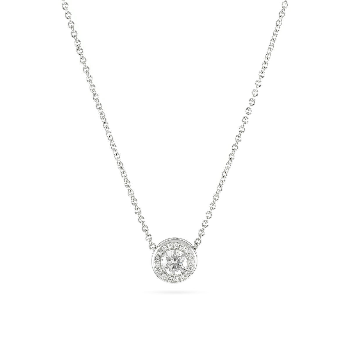 Vintage 18ct White Gold 0.75ct Diamond Necklace