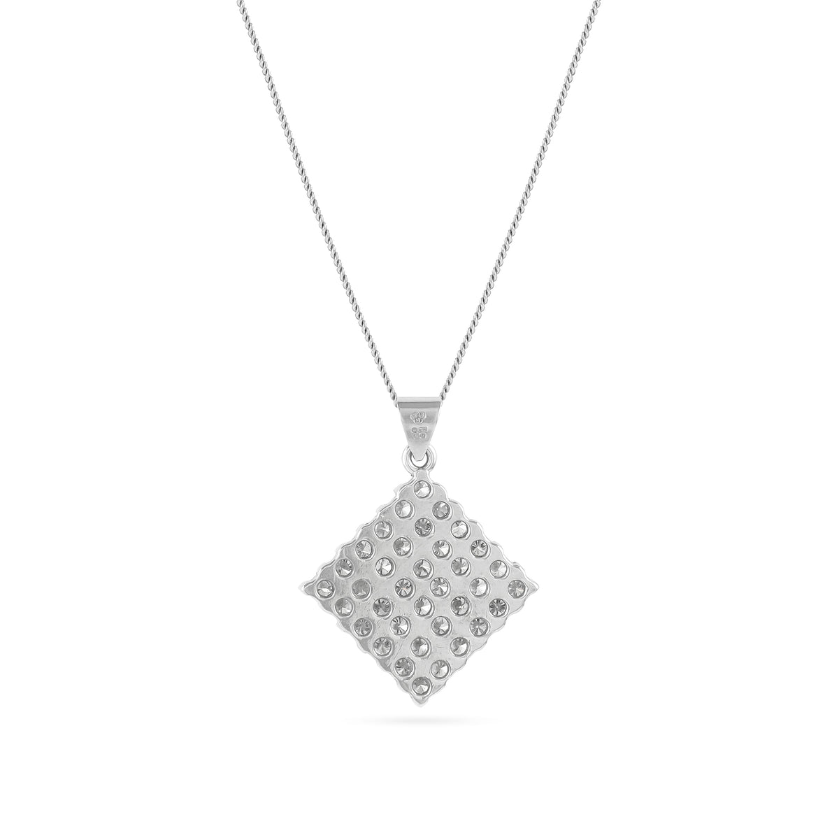 Vintage 18ct White Gold Diamond Pendant