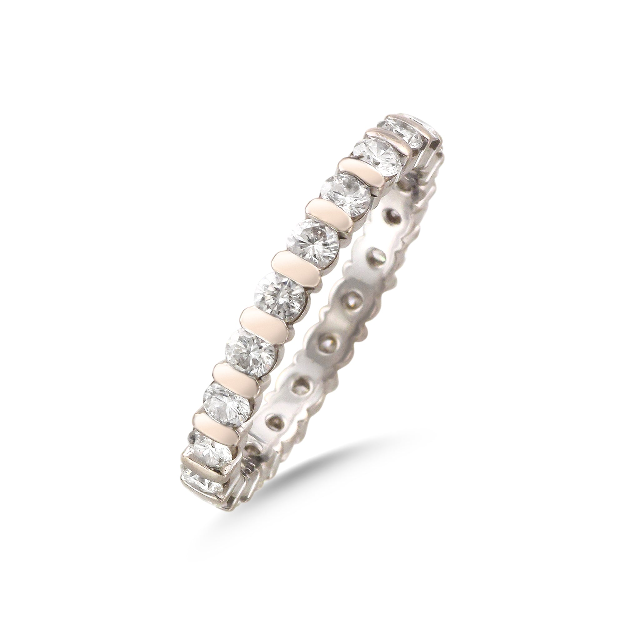 Vintage 18ct White Gold Full Eternity Diamond Ring