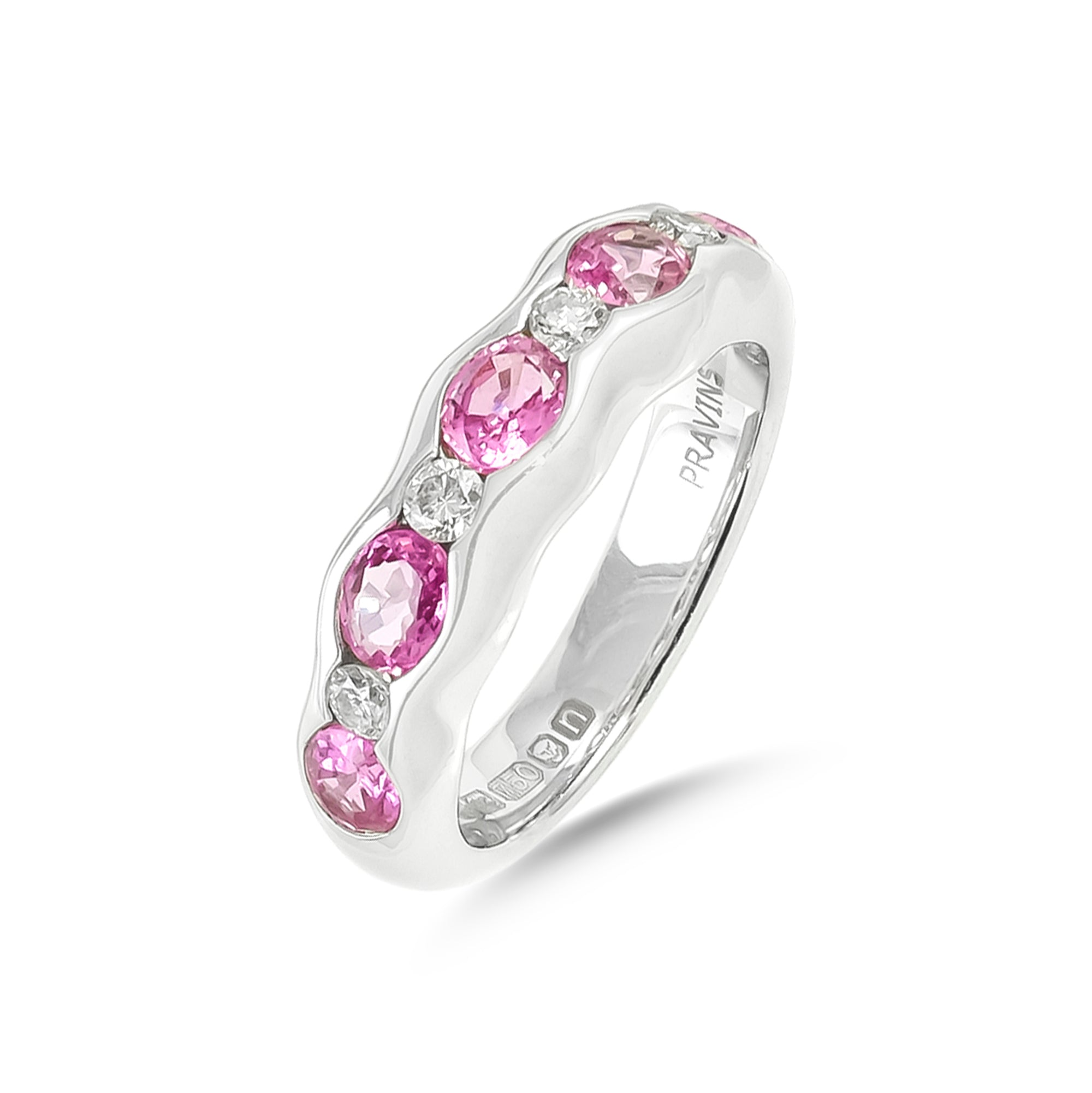 Vintage 18ct White Gold Tourmaline and Diamond Ring