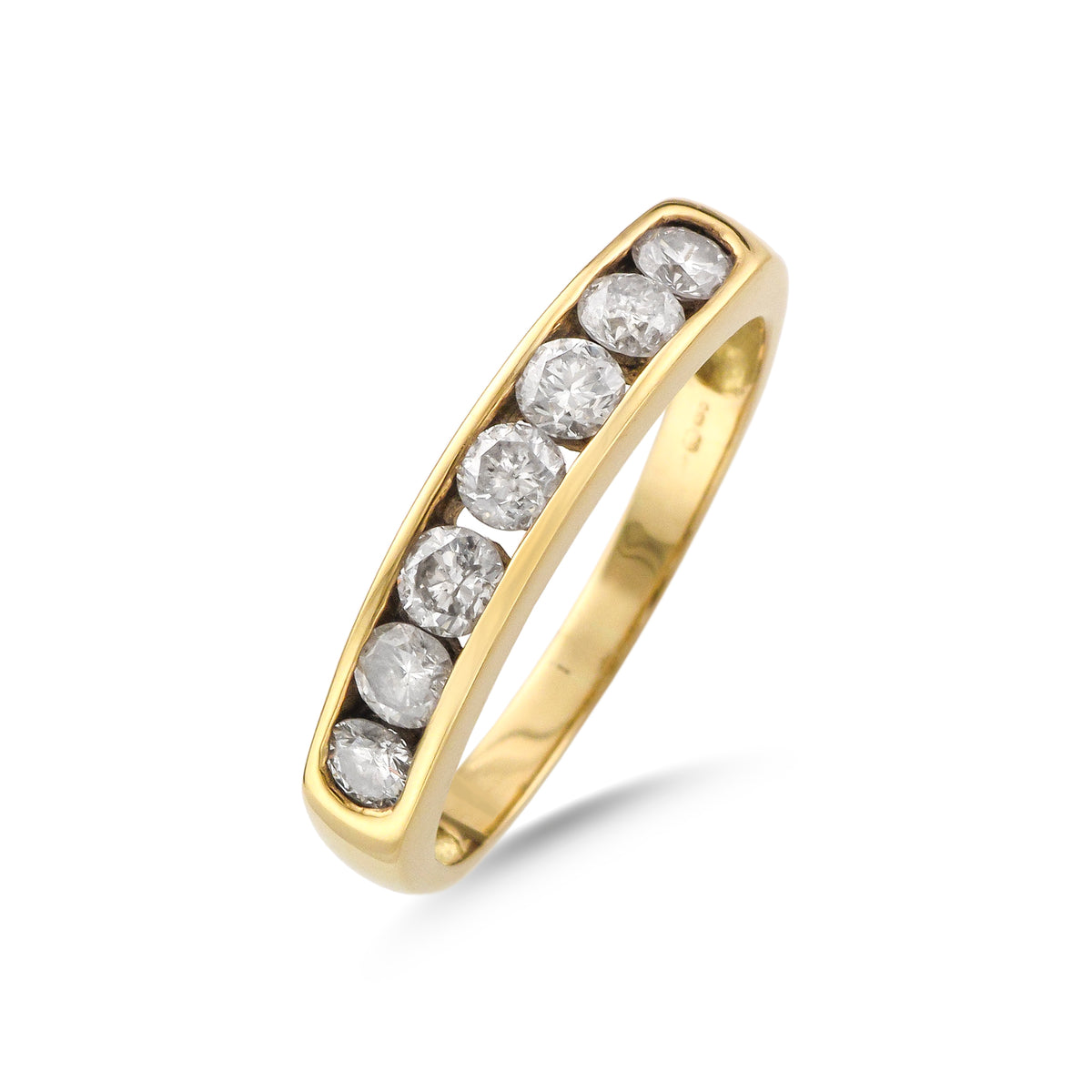 Vintage 18ct Yellow Gold Diamond Half Eternity Ring