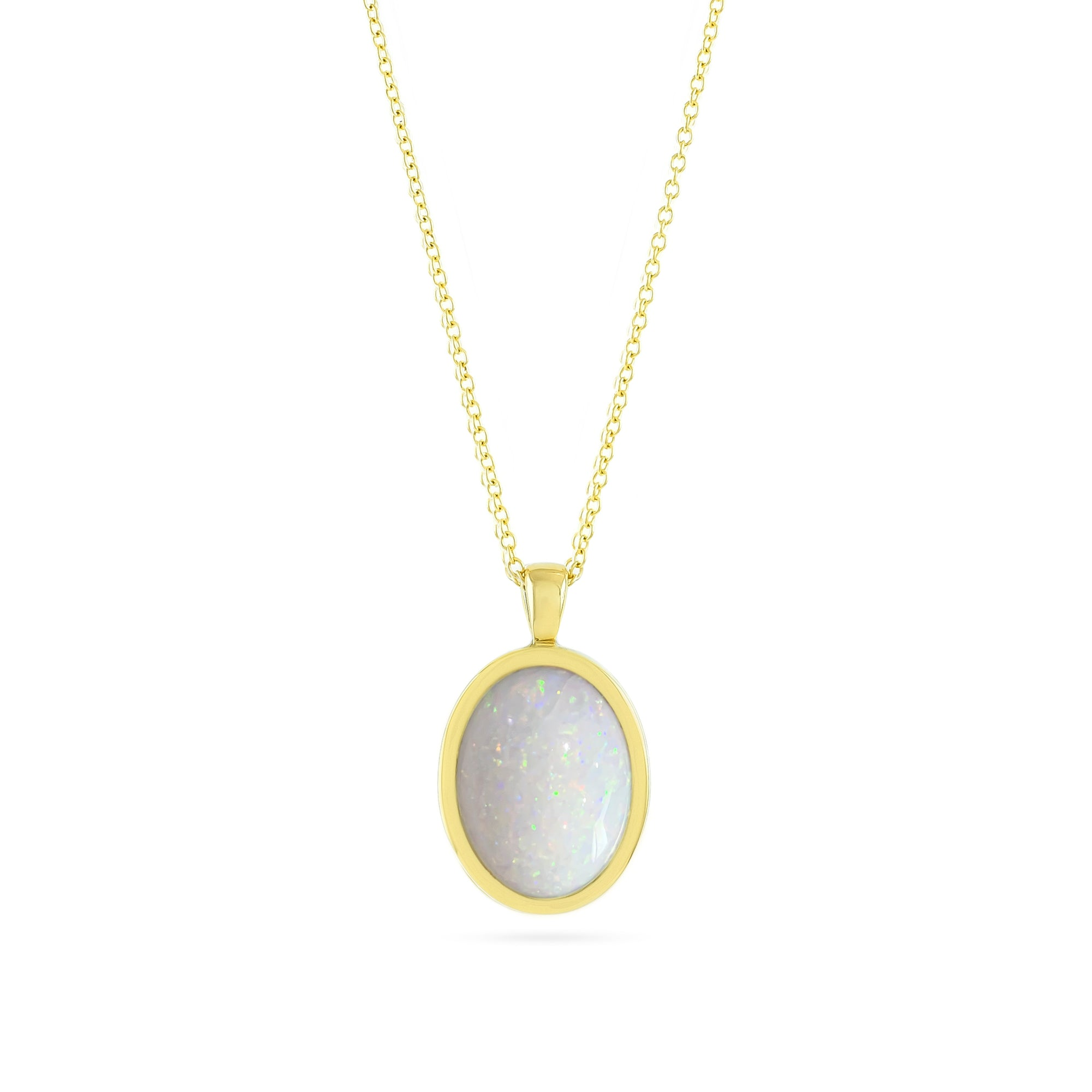 Vintage 18ct Yellow Gold Opal Pendant