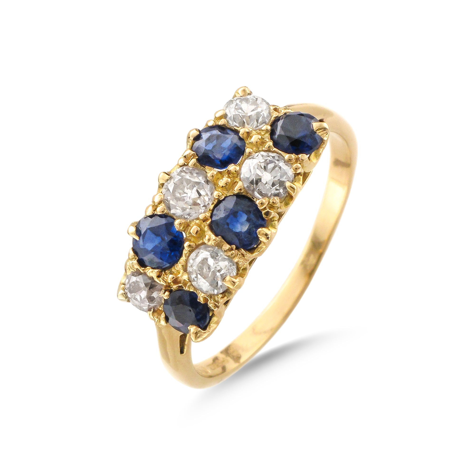 Vintage 18ct Yellow Gold Sapphire and Diamond Ring