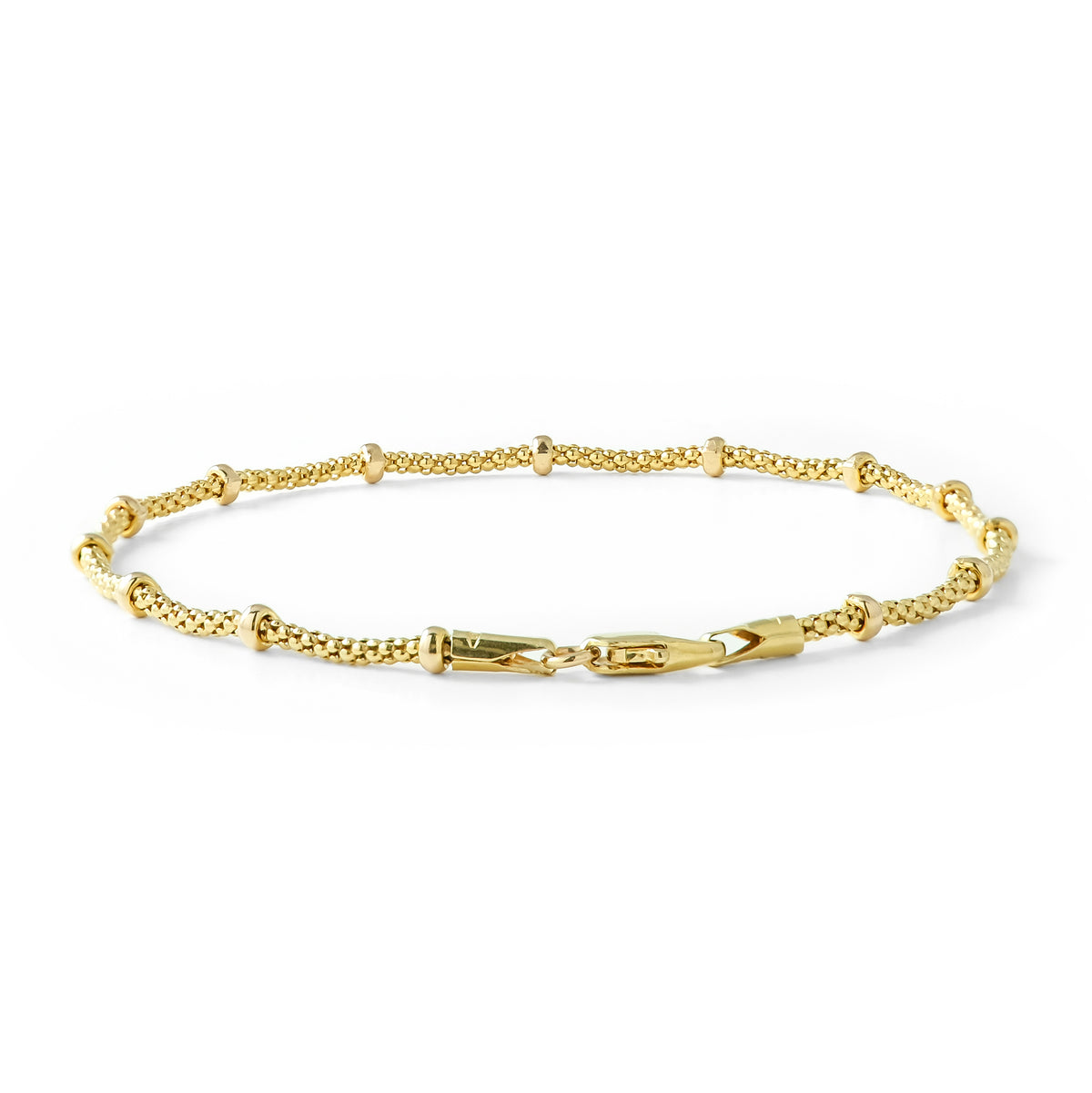 Vintage 9ct Yellow Gold Ball Bracelet