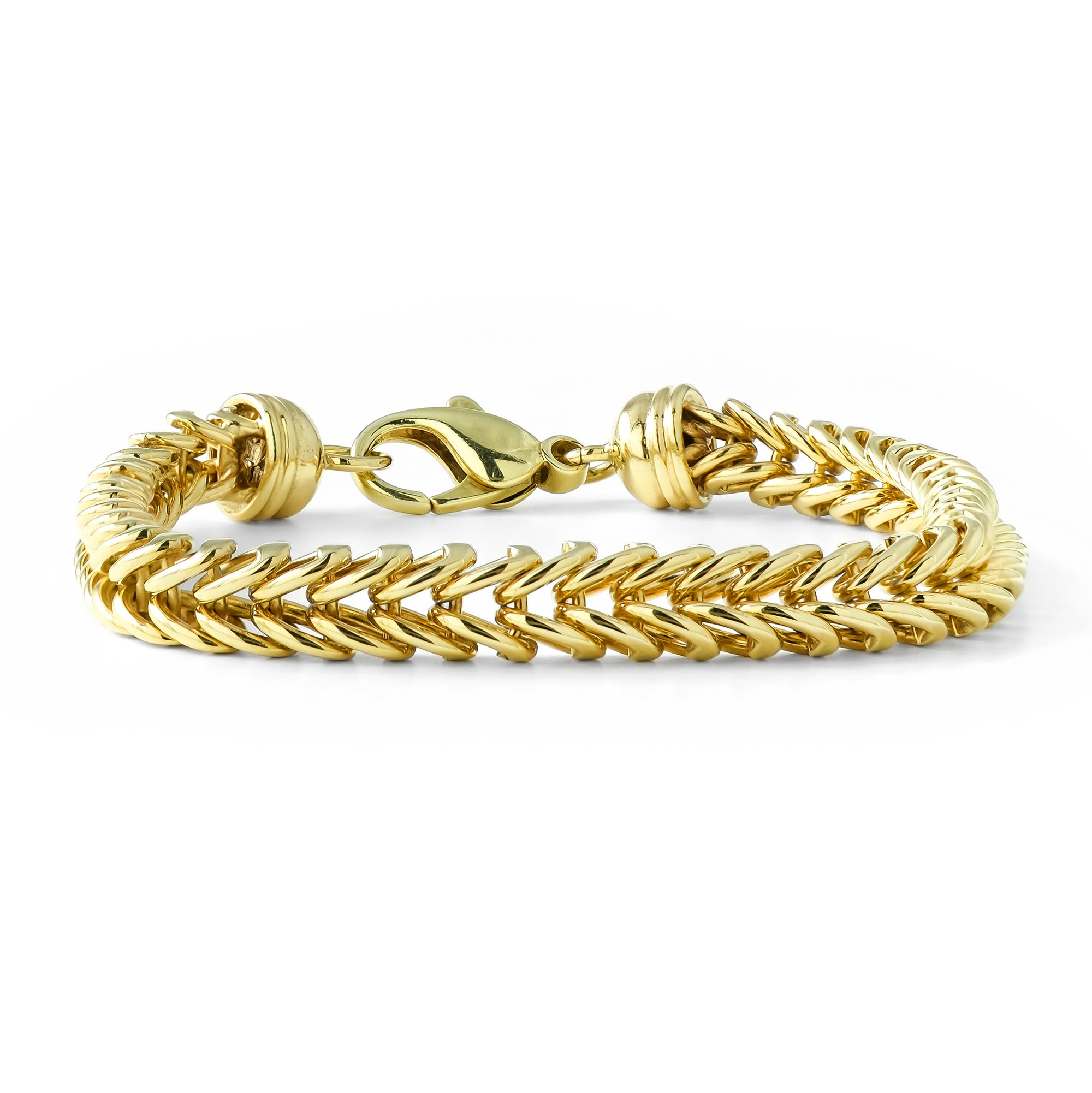 Vintage 9ct Yellow Gold Foxtail Bracelet
