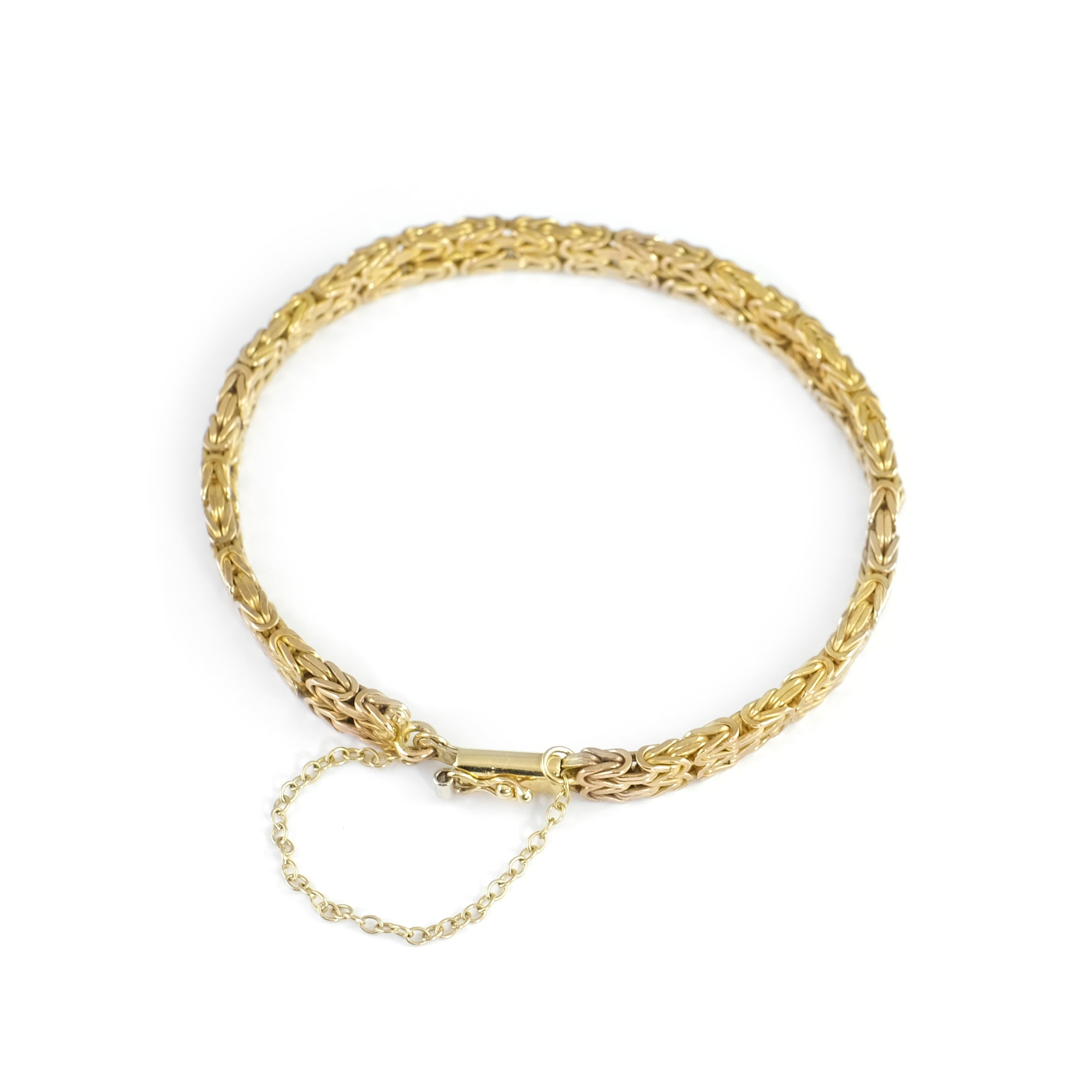 Vintage 9ct Yellow Gold Two Strand Bracelet