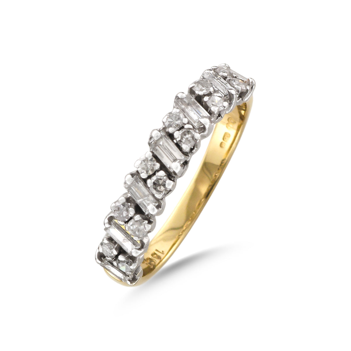 Vintage 9ct Yellow Gold Half Eternity Ring