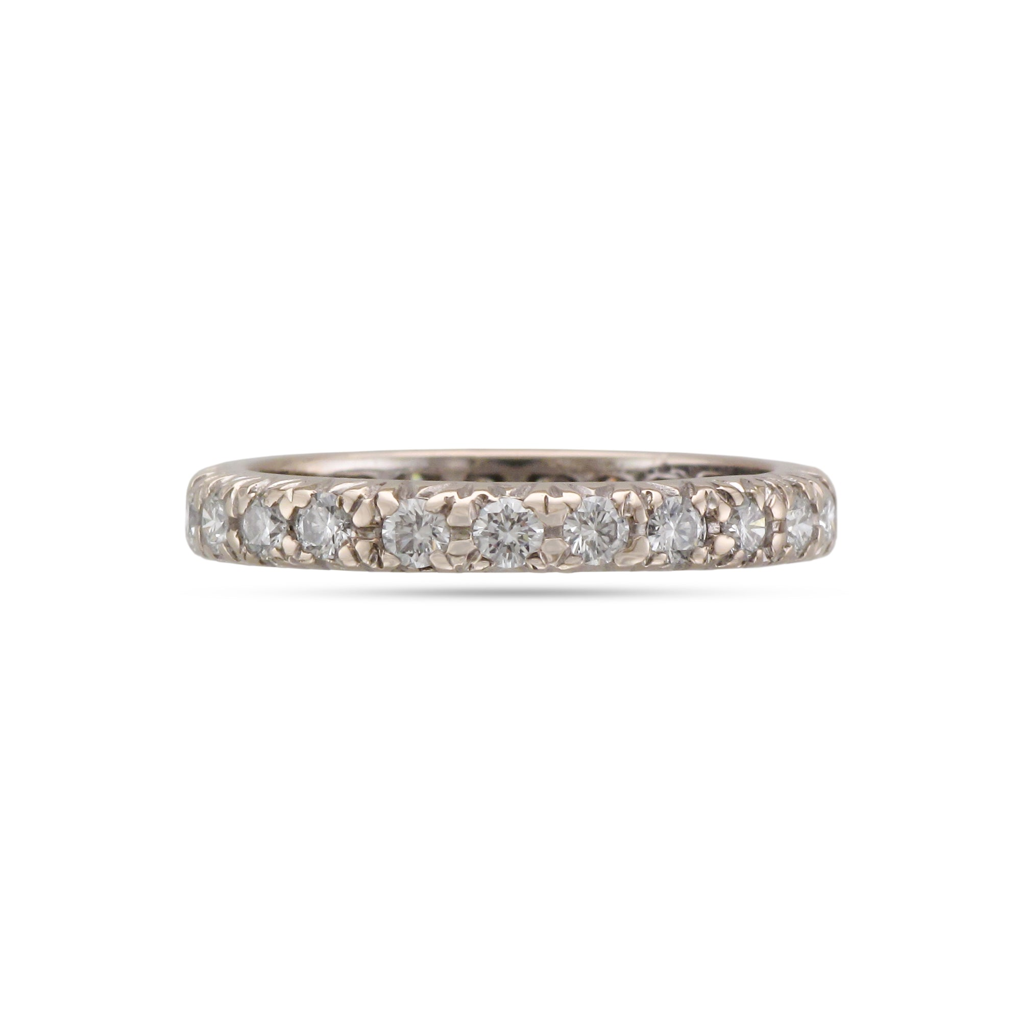 Vintage 18ct White Gold Full Diamond Eternity Ring