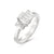 Vintage 18ct White Gold Three Stone Diamond ring