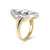 Vintage 18ct Yellow Gold Diamond Boat Shaped Ring