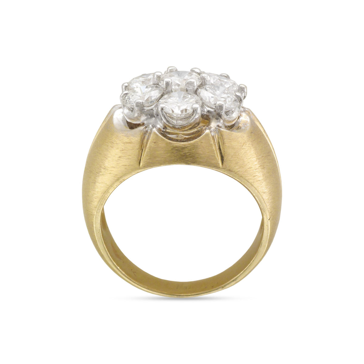 Vintage 18ct Yellow Gold Diamond Cluster Ring