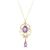 9ct Yellow Gold Amethyst Pendant