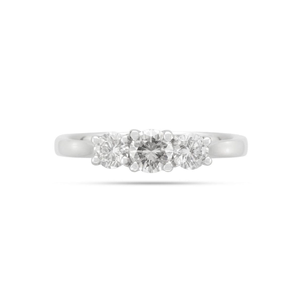 Vintage 18ct White Gold 3 Stone Diamond Ring