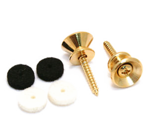 Fender Pure Vintage Strap Buttons, Gold (2)
