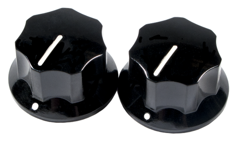 Fender Pure Vintage 1965 Jaguar Skirted Knobs, (2), Black