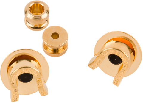 Fender Strap Locks (Gold) (2) (No Buttons)