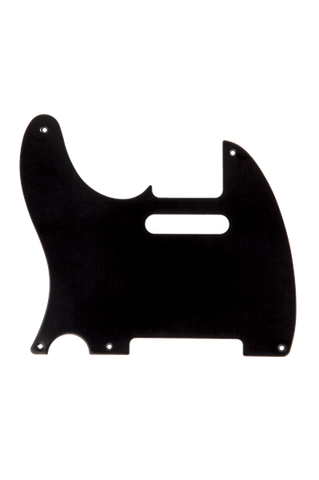 Fender Pickguard, Telecaster (Left-Hand), 5-Hole Mount, Black, 1-Ply